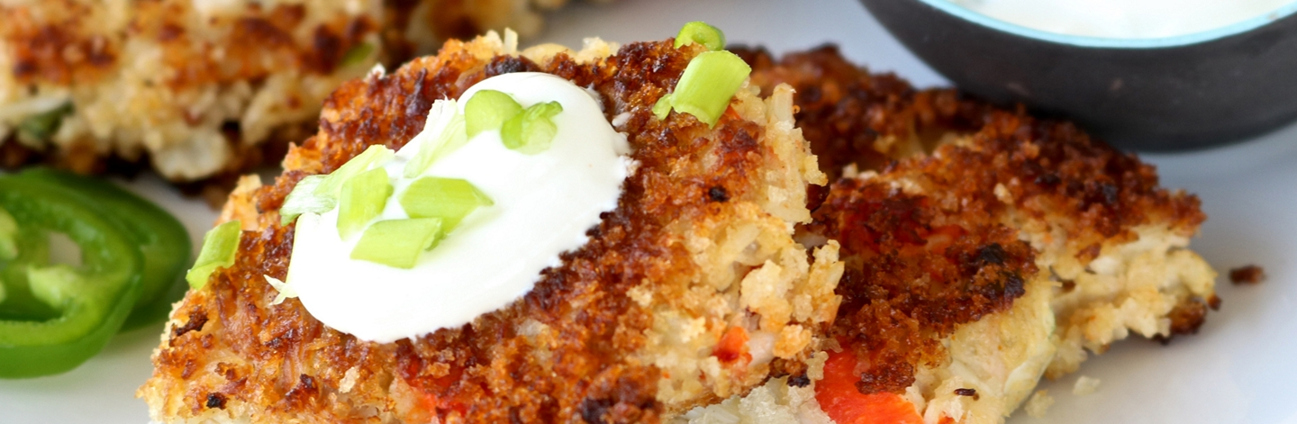 Best Light Crab Cakes with Quick Jalapeno-Lime Sauce