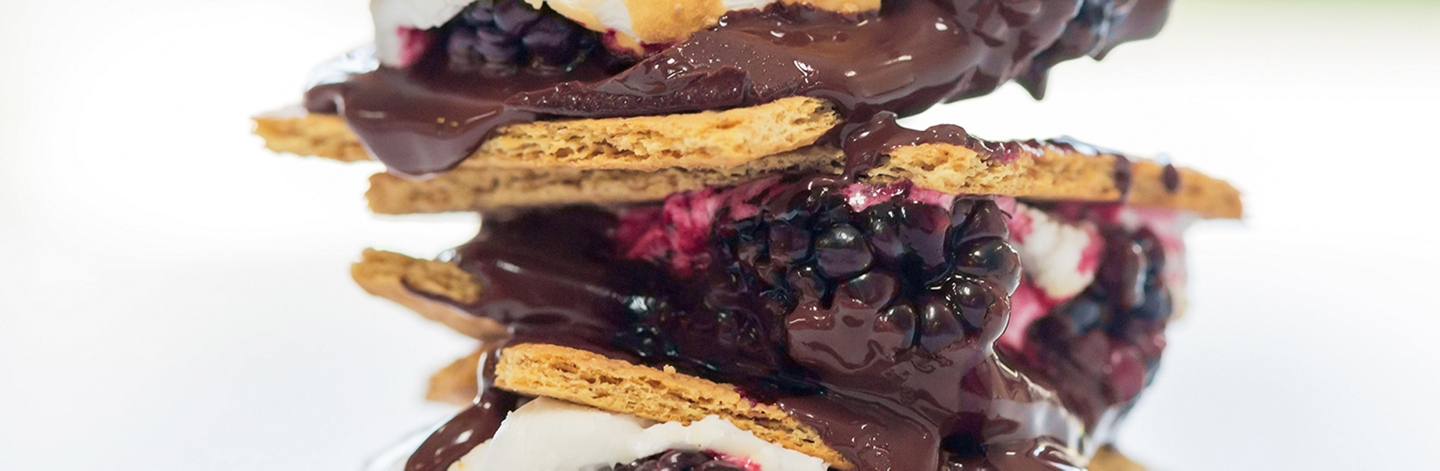 Blackberry and Dark Chocolate S'more