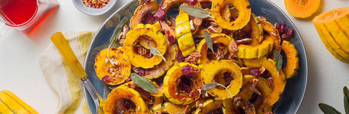 Brown Butter Roasted Delicata Squash