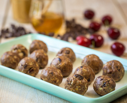 Chocolate Covered Cherry Peanut Butter Balls