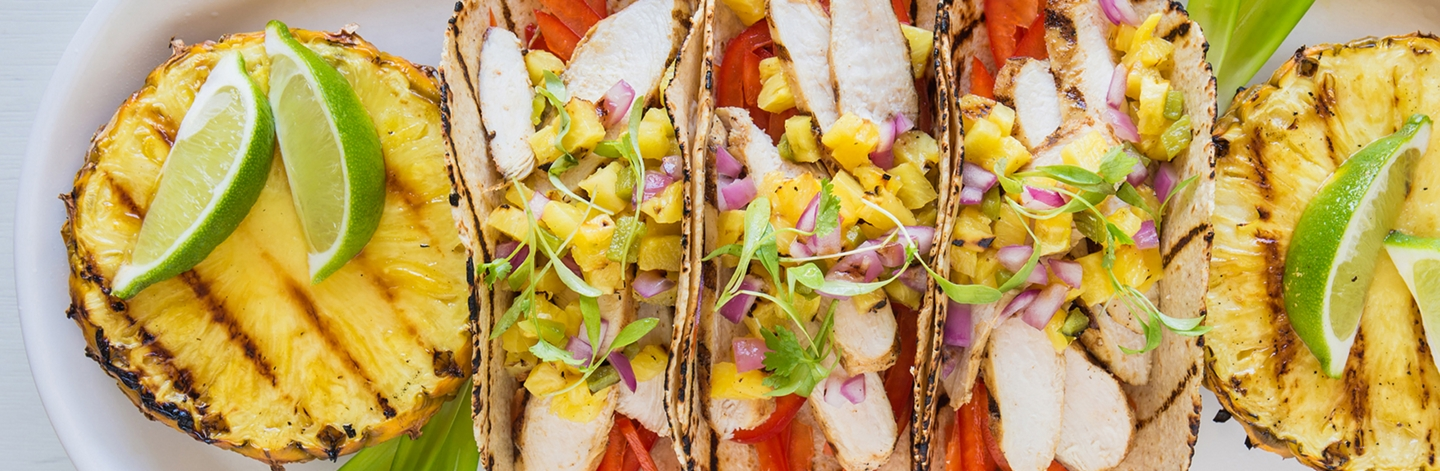 Grilled Spicy Chicken Taco & Pineapple Salsa