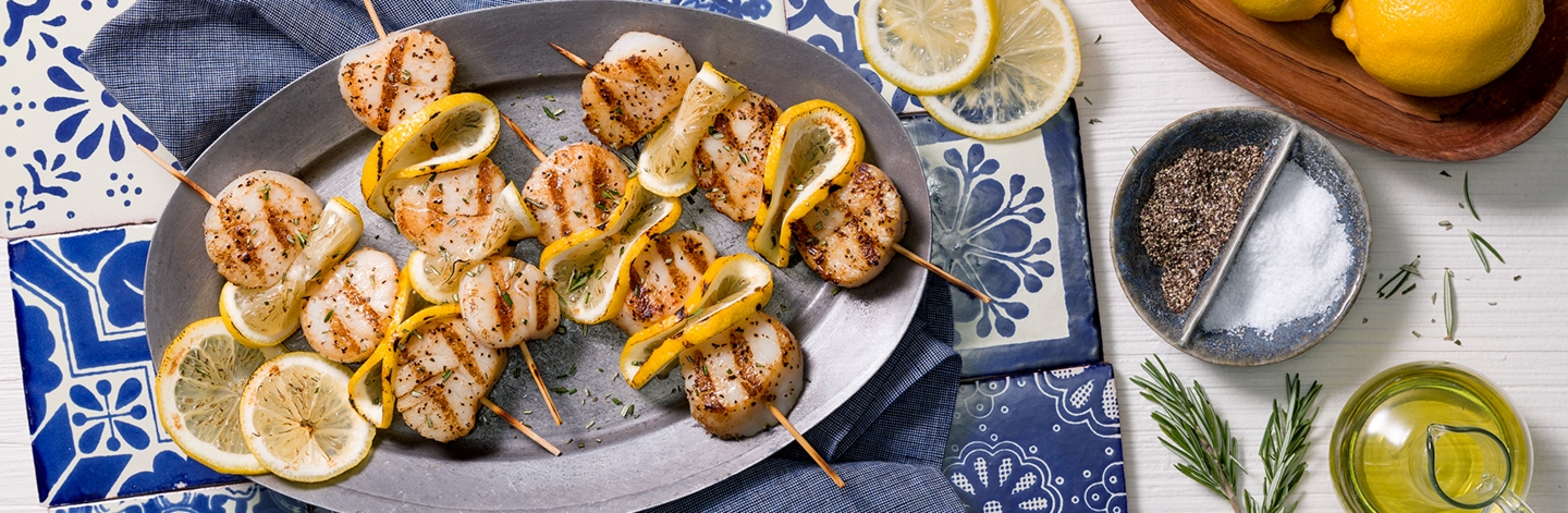 Lemon Rosemary Scallops