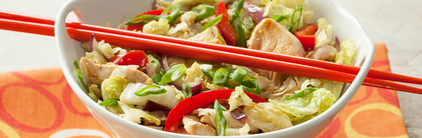 Napa Cabbage and Chicken Stir Fry