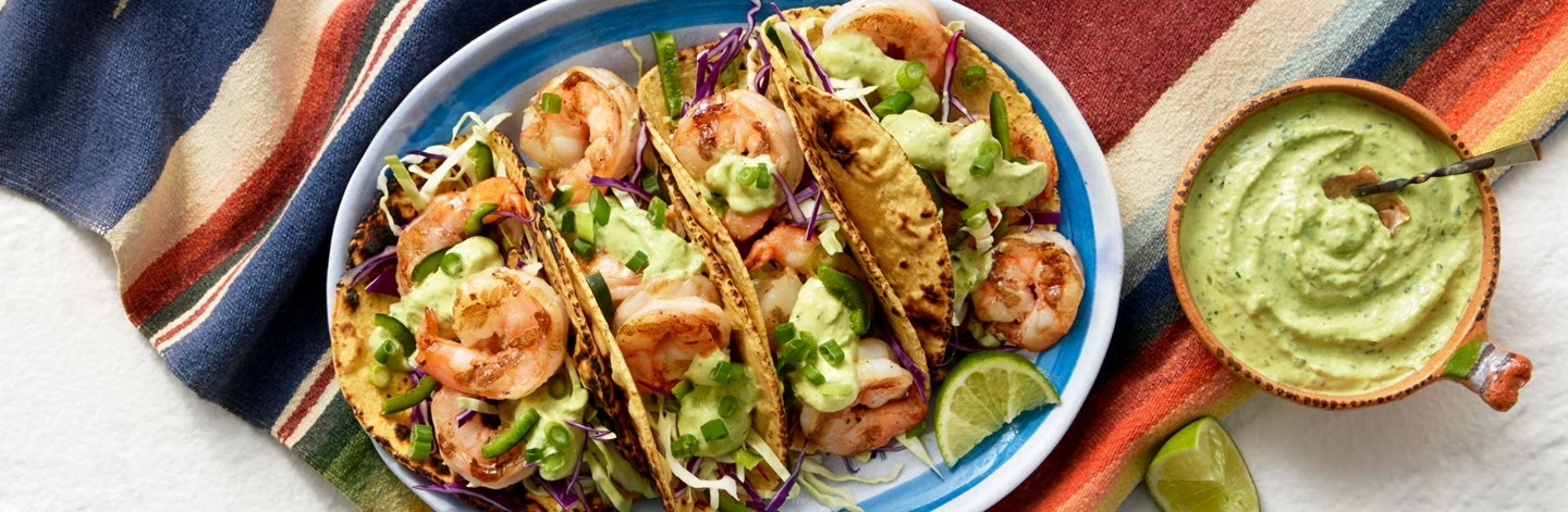 Open Nature® Shrimp Taco with Creamy Avocado Tomatillo Salsa