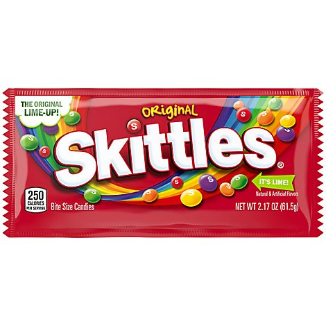 Skittles Chewy Candy Original Single Pack - 2.17 Oz