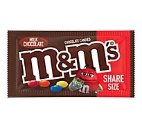 M&MS Milk Chocolate Candies Milk Chocolate Share Size - 3.14 Oz