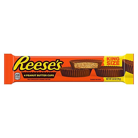 Reeses Peanut Butter Cups Milk Chocolate King Size - 4 Count