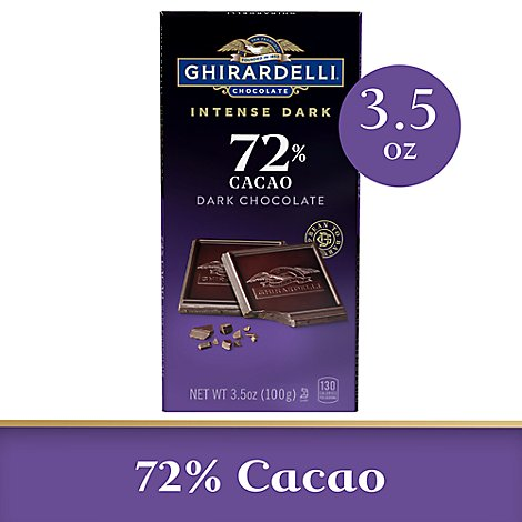 Ghirardelli Intense Dark Chocolate Bar 72% Cacao - 3.5 Oz
