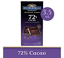 Ghirardelli Chocolate Intense Dark Dark Chocolate Twilight Delight 72% Cacao - 3.5 Oz