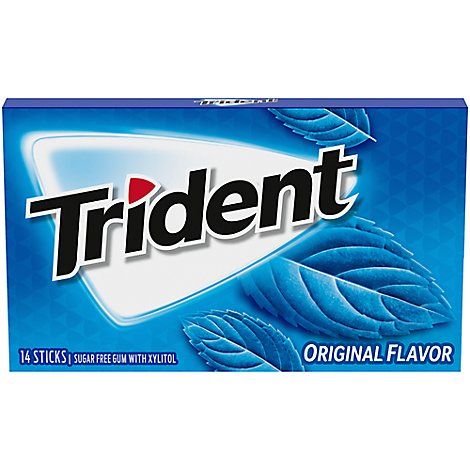 Trident Gum Sugarfree with Xylitol Original Flavor - 14 Count