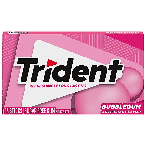 Trident Gum Sugarfree with Xylitol BubbleGum - 18 Count
