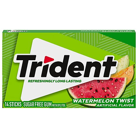 Trident Gum Sugarfree with Xylitol Watermelon Twist - 18 Count