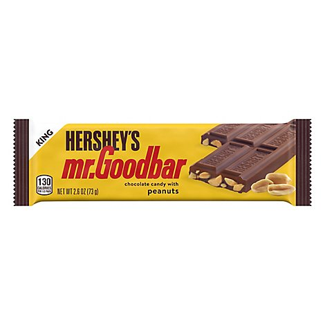 Mr.Goodbar Candy Bar Milk Chocolate With Peanuts King Size - 2.6 Oz