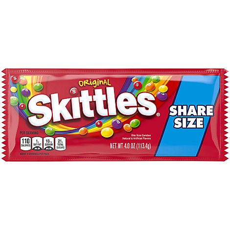 Skittles Original Candy Share Size Pack 4 Oz