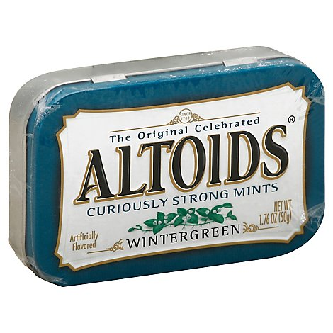 Altoids Hard Candy Mints Wintergreen Single Pack - 1.76 Oz