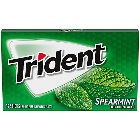 Trident Gum Sugarfree with Xylitol Spearmint - 14 Count