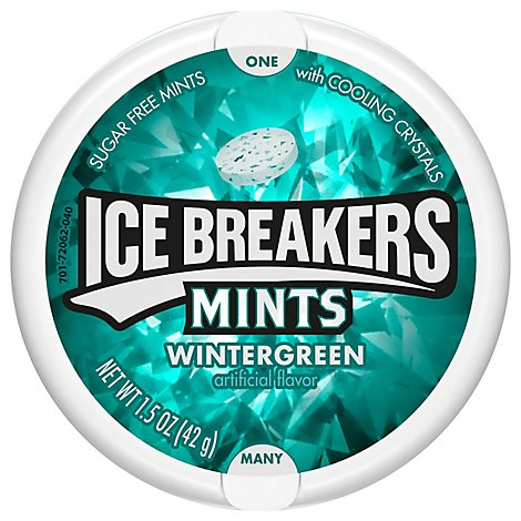 Ice Breakers Mints Sugar Free Wintergreen - 1.5 Oz
