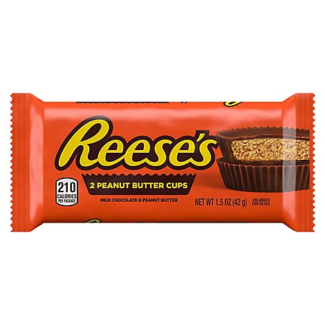 Reeses Peanut Butter Cups Milk Chocolate - 2 Count