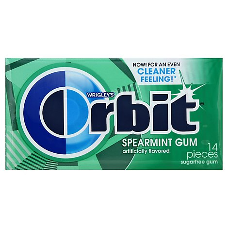 Orbit Sugar Free Chewing Gum Spearmint Single pack - 14 Count