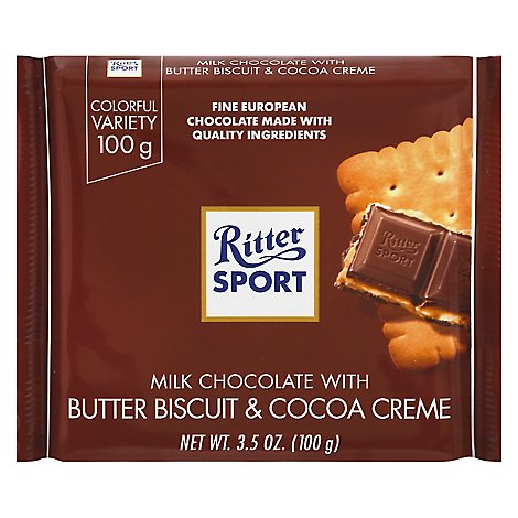 Ritter Sport Milk Chocolate with Butter Biscuit - 3.5 Oz