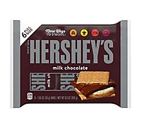 HERSHEYS Milk Chocolate Full Size - 6-1.55 Oz