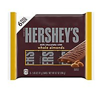 HERSHEYS Milk Chocolate with Almonds Full Size - 6-1.45 Oz