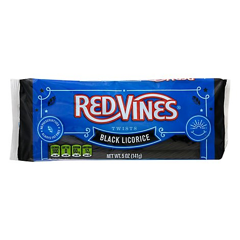 American Licorice Red Vines Black Licorice - 5 Oz