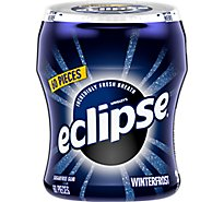 Eclipse Sugar Free Chewing Gum Winterfrost Bottle - 60 Count