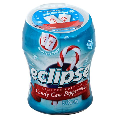 Eclipse Sugar Free Chewing Gum Spearmint Bottle - 60 Count