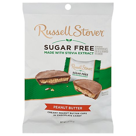 Russell Stover Chocolate Peanut Butter Cups Covered in Chocolate Candy - 3 Oz