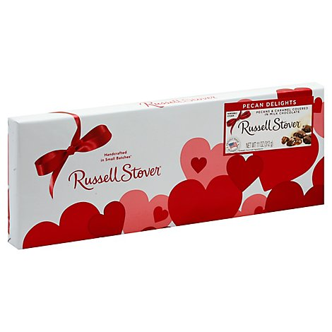 Russell Stover Chocolate Pecan Delight Pecan & Caramel - 11 Oz