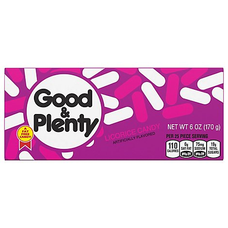 Good & Plenty Candy Licorice - 6 Oz