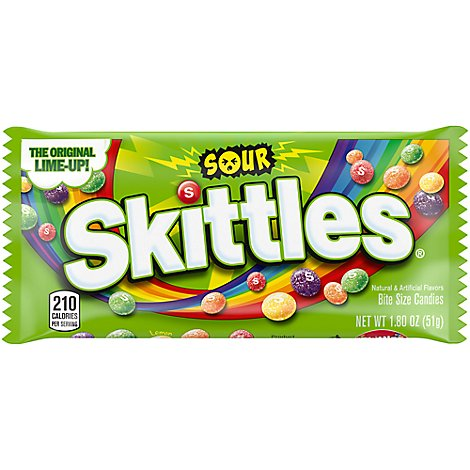 Skittles Chewy Candy Sour Single Pack - 1.8 Oz