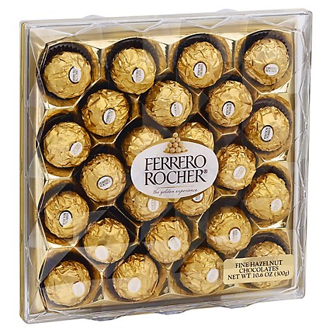 Ferrero Rocher Candy 24 Piece Gift Box - 10.6 Oz