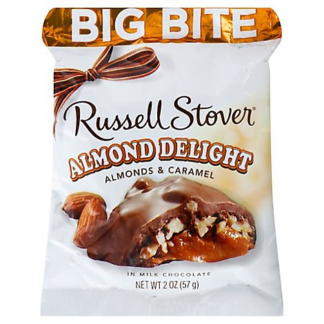 Russell Stover Chocolate Big Bite Almond Delight in Milk Chocolate - 2 Oz