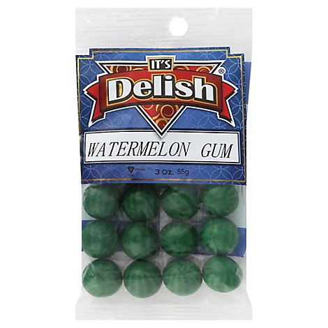 Its Delish Watermelon Gum - 3 Oz