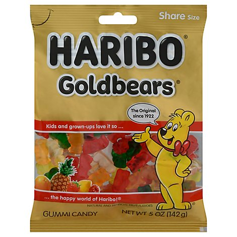 Haribo Gold-Bears Gummi Candy Original - 5 Oz