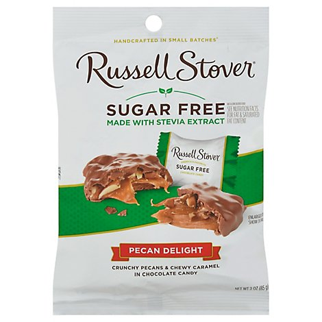 Russell Stover Chocolate Candy Sugar Free Pecan Delight - 3 Oz
