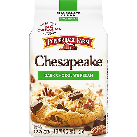Pepperidge Farm Cookies Chocolate Chunk Chesapeak Crispy Dark Chocolate Pecan - 7.2 Oz