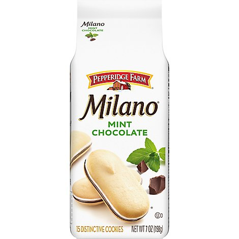 Pepperidge Farm Milano Cookies Mint Chocolate - 7 Oz