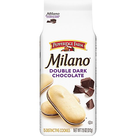 Pepperidge Farm Milano Cookies Double Chocolate - 7.5 Oz