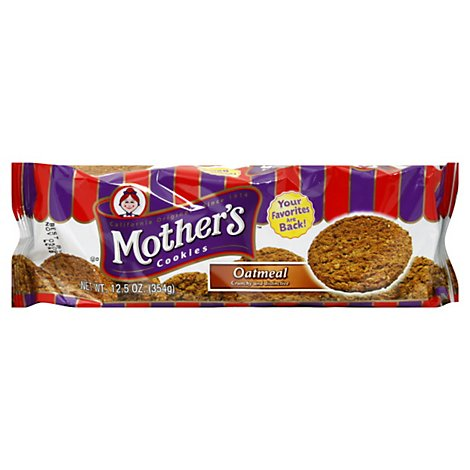 Mothers Cookies Oatmeal - 12.5 Oz