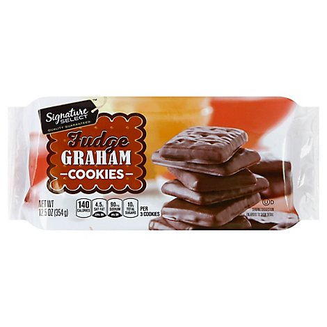 Signature SELECT Cookies Fudge Grahams - 12.5 Oz
