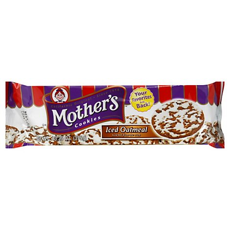 Mothers Cookies Iced Oatmeal - 13.25 Oz