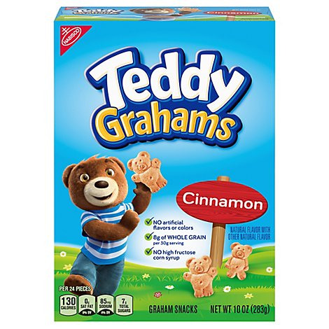 Honey Maid Teddy Grahams Graham Snacks Cinnamon - 10 Oz