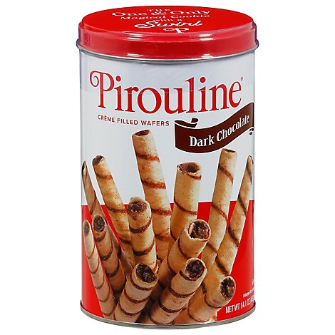 Creme De Pirouline Double Chocolate Wafer Roll Cookie - 14 Oz
