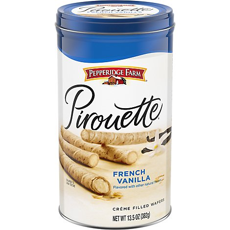 Pepperidge Farm Rolled Wafers Pirouette Creme Filled French Vanilla - 13.5 Oz