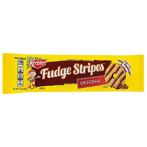 Keebler Fudge Stripes Cookies Original - 11.5 Oz