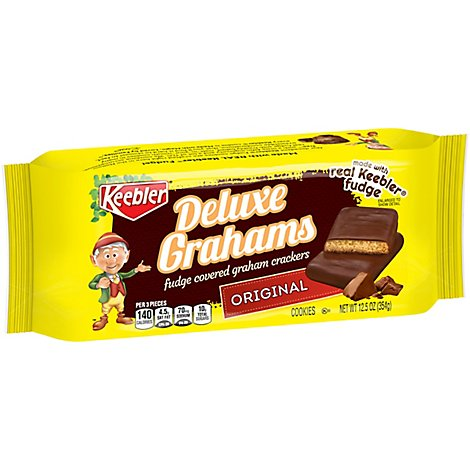 Keebler Crackers Grahams Deluxe Fudge Covered - 12.5 Oz