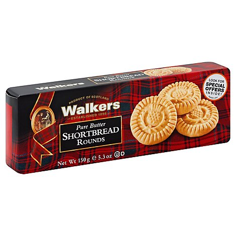 Walkers Shortbread Pure Butter Rounds - 5.3 Oz